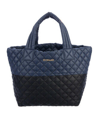AU255.62 • Buy MZ Wallace Navy Blue And Black Nylon Metro Tote NWT Includes Original Dustbag