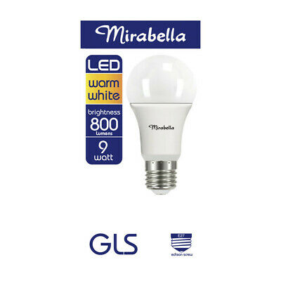 AU8 • Buy Mirabella LED 9.5 Watt Edison Screw Warm White Globe 1 Each