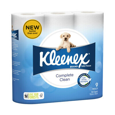 AU8 • Buy 9Pck Kleenex Complete Soft Strong Absorbent Thick Clean Toilet Tissue Rolls