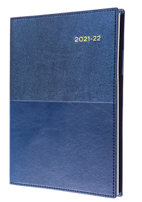 AU21.90 • Buy Collins Vanessa 2021-2022 Financial Year Diary A5 Week To View Blue FY385