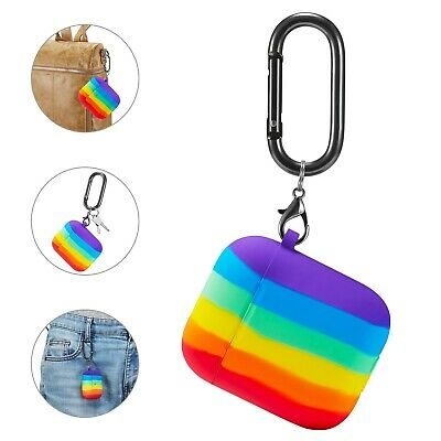 AU8.99 • Buy For  Apple AirPods  Rainbow Cute Silicone Case + Keychain Protective Cover Skin