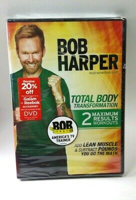 Bob Harper Total Body Transformation DVD 2 Maximum Results Workouts Fitness NEW! • 5.85£