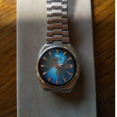 $ CDN216.58 • Buy SEIKO 5 ACTUS 6106-7700 23Jewels Automatic Blue Gradient Dial Watch