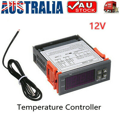 AU16.59 • Buy 12V LCD Digital Temperature Controller Thermostat With Sensor STC-1000 AU