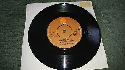 Country Joe McDonald: Breakfast For Two/Lost My Connection. UNPLAYED FROM NEW 45 • 9.99£