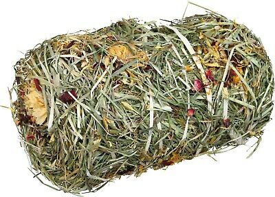 £7.99 • Buy Natural Hay Roll With Flower Mix For Rabbits & Guinea Pigs