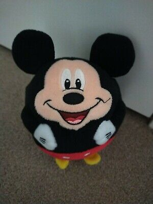£8 • Buy Official Disney  Mickey Mouse Beanie Ballz Ball Soft Toy Plush By Ty New