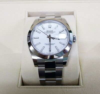 $ CDN11470.33 • Buy Rolex Oyster Perpetual Datejust 41 Box And Papers Unworn/ Unused White Dial