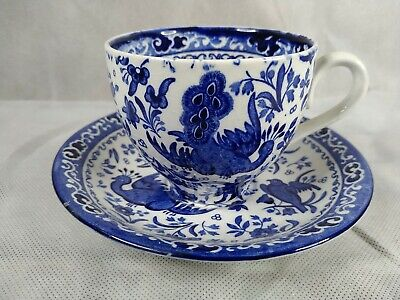 £19.95 • Buy Antique Burgess And Leigh Burleigh Ware Blue Regal Peacock Cup And Saucer