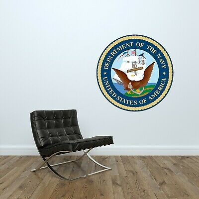 $39.95 • Buy U.S. Department Of The Navy Logo Wall Decal Military Decor Vinyl Sticker