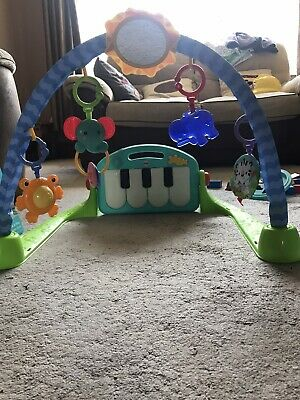 £15 • Buy Fisher BMH49 Kick And Play Piano Gym Baby Play Mat - Blue