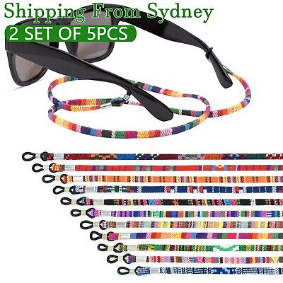 AU9.99 • Buy 10 Pcs Colorful Sunglasses Strap Eyeglass Chain Reading Glasses Holder Neck Cord