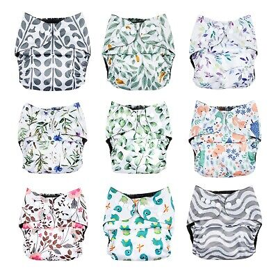 AU12.95 • Buy NEW Modern Cloth Nappy Eco-Friendly Bamboo Charcoal Reusable Diaper Shell Insert