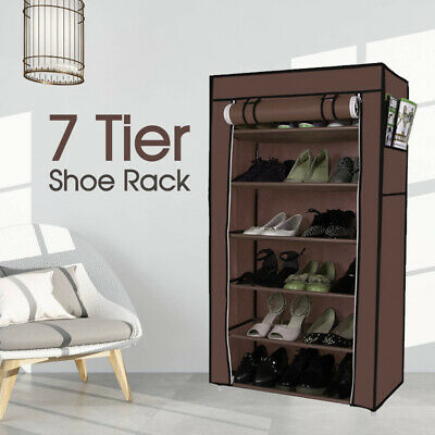 AU17.99 • Buy Shoe Rack 7 Tier Shoes Cabinet Storage Organizer With Cover
