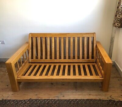 £200 • Buy Futon Company 'Vienna' Solid Oak2 Seater Double Sofa Bed Frame