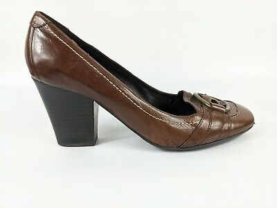 £13.99 • Buy Next Sole Reviver Brown Leather High Heel Shoes Uk 6 Eu 39