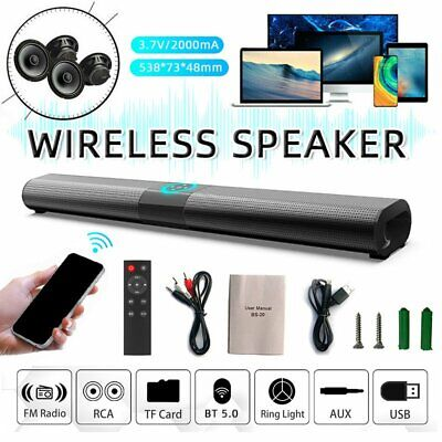 £52.19 • Buy Bluetooth Sound Bar Speaker 3D Stereo System TV Home Theater For LG Samsung Sony