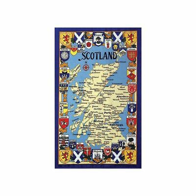 £6.95 • Buy Stow Green Map & Arms Of Scotland Tea Towel 100% Cotton Kitchen Dish Cloth