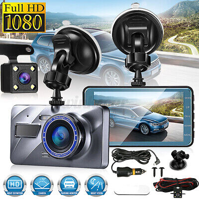 AU37.44 • Buy 1080P Car DVR Dash Camera Front And Rear Dual Lens Video Night Vision Recorder
