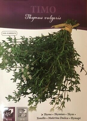 £3.50 • Buy Herb Thyme (Italian Seeds) Pictorial Packet - 0.3g Approx. 1050 Seeds