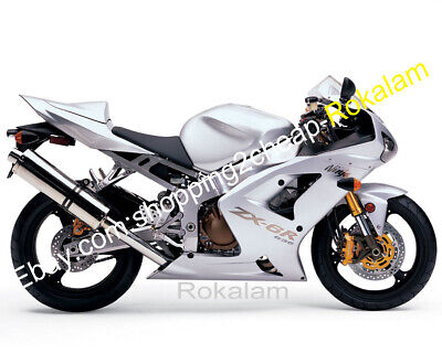 $449 • Buy For Kawasaki Ninja ZX6R 2003 2004 ZX636 ZX-6R 03 04 Silver Aftermarket Fairings