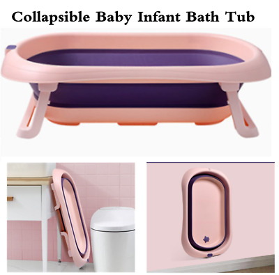 £26.59 • Buy Baby Bath Tub Collapsible Foldable Portable Washing Babies New Born Kids Toddler
