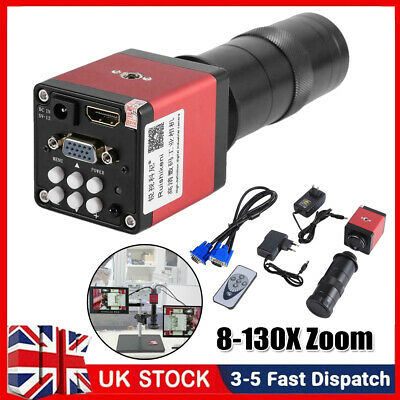 £65.79 • Buy 14MP HDMI VGA HD Industry 60F/S Video Microscope Camera Lens With Remote Control