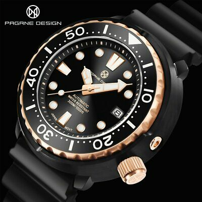 $ CDN199.63 • Buy Pagrne Design 1675 NH35 Seiko Tuna Homage Automatic Diver Watch Rubber Sapphire