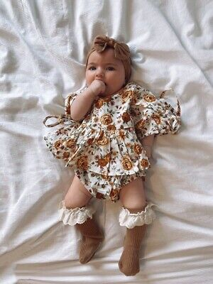 £14.50 • Buy Baby Girl Romper Dress Outfit Vintage Spanish Style Floral All In One BNWT