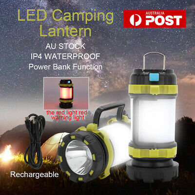 AU18.99 • Buy  1xRechargeable LED Camping Lantern Outdoor Tent Light Lamp & Power For Phone AU
