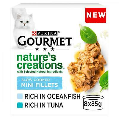 £8.95 • Buy Gourmet Nature's Creations Slow Cooked Mini Fillets Fish Cat Food | Cats