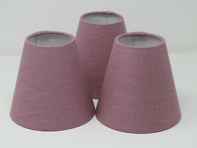 £19.50 • Buy Lampshade Tapered Small Candle Clip Chandelier Mauve Textured 100% Linen