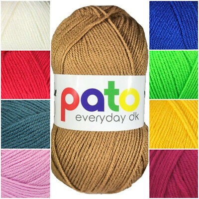 Cygnet Pato DK Knitting Wool / Yarn Double Knitting Knit 100g Ball - 34 Shades • 1.35£