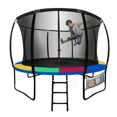 AU489 • Buy UP-SHOT 8ft Round Kids Trampoline With Curved Pole Design