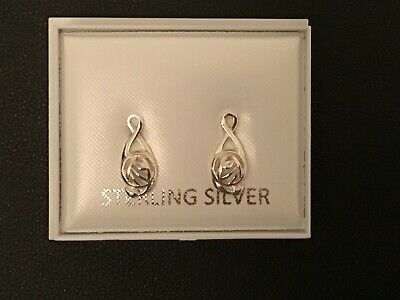 £3.99 • Buy New Genuine 925 Sterling Silver Small Celtic Stud Earrings, Great Gift, Stunning
