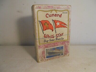 £29.50 • Buy Chad Valley Jigsaw Puzzle-Wood- Cunard White Star-Queen Mary,complete/boxd C1936