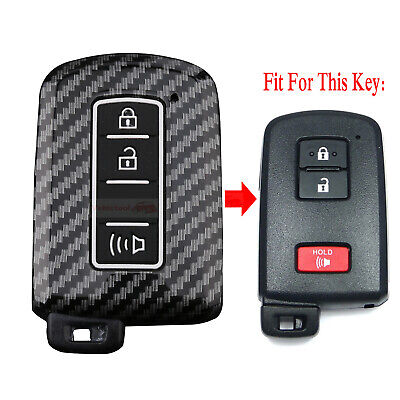 $10.88 • Buy Fit Toyota 4Runner Tacoma Tundra Carbon Fiber Remote Key Fob Hard ABS Case Cover