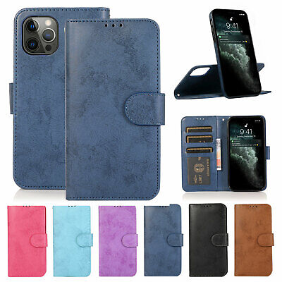 AU16.49 • Buy For IPhone 12 11 Pro Max XS XR 8 7 Case Removable Leather Magnetic Wallet Cover
