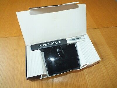 £11.99 • Buy Vintage Papermate Desk Mate Set 70s Writing Desk Tidy With Refill Boxed