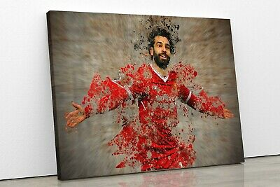 £19.99 • Buy Mo Salah Liverpool Football Player Framed Canvas Wall Art Large Picture Print