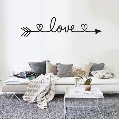 Love Arrow Decals Wall Sticker Living Room Bedroom Vinyl Engraved Wall  Stick LE • 4.55£