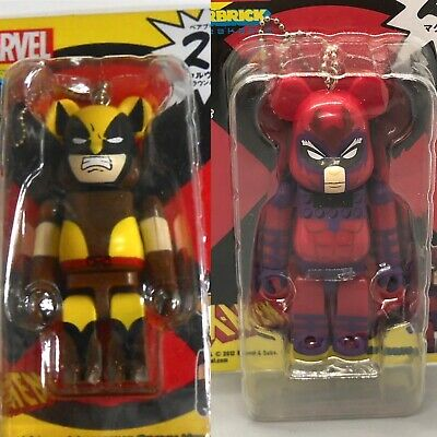 $49.99 • Buy RARE Wolverine Magneto Marvel 100% Bearbrick 2 Figure Lot US Seller