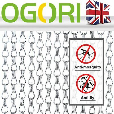 Ogori Metal Fly Screen Door Curtain Aluminium Chain Outdoor • 36.89£