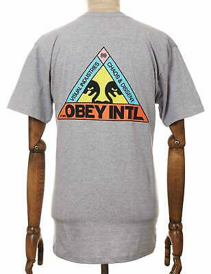 £35.15 • Buy Obey Clothing Trinity Tee - Bruyère Grise