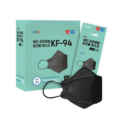 AU35.90 • Buy 10x Adult Korea KF94 Black Face Mask Protective 4 Layer 3D Individual Package
