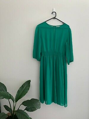 AU30 • Buy ASOS Green Sheer Dress Size 16