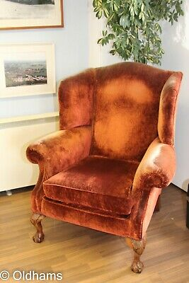£350 • Buy Stunning Duresta Devonshire Wing Chair With Domed Top - Rust Colour - 2001