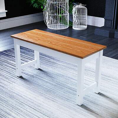 £41.99 • Buy Dining Bench Long Seat Honey Wooden 90cm Kitchen Hallway Home Furniture