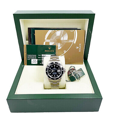 $ CDN14484.84 • Buy Rolex Submariner 16610 Black Dial Stainless Steel Box Papers 2007