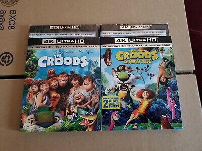 AU36.69 • Buy The Croods 1 & 2: W/Slipcovers (4K Ultra HD & Blu-ray) No Codes